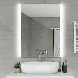 "LED Bathroom Lighted Mirror Illuminated Wall Touch Light Vanity Makeup 24""x32"""