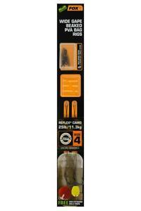 FOX EDGES Wide Gape Beaked Pva Bag Rigs - 25lb Size 4 Brown & Green