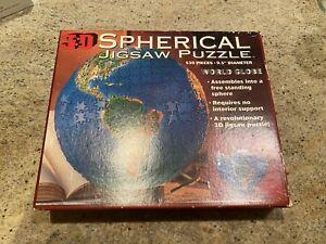 1995 Buffalo Games World Globe 3D Spherical Jigsaw Puzzle 530 Pieces