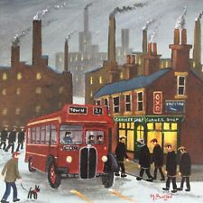 MAL.BURTON ORIGINAL OIL PAINTING  THE WORKERS   NORTHERN ART DIRECT FROM ARTIST