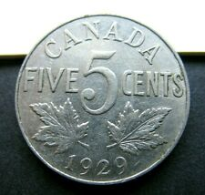 1929  Canada 5 cents King George V  (VF)