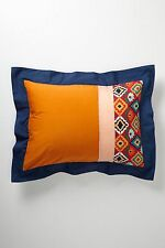 Anthropologie Pillow Shams Standard Queen Florence Set of 2 Cotton Bedding New
