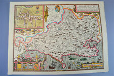 Vintage decorative sheet map of Dorsetshire Dorset John Speede 1610