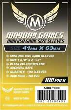 MAYDAY GAMES Mini American USA Board Game Card Sleeves Clear Size 41x63mm 100ct