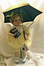 Morton Salt Umbrella Girl Shirley Temple Doll Porcelain Danbury Mint Vtg 1968