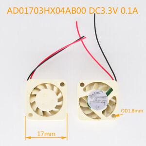 5pcs ADDA AD01703HX04AB00 3.3V 0.1A 1703 1.7cm Mini DC Cooling Fan White