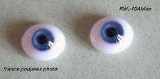 Yeux en verre 6mm bleu poupée ancienne/moderne/BJD-Oval Doll Glass Eyes-6mm