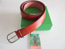 cintura belt rosso corallo artigianale vero cuoio made in Italy Seminole