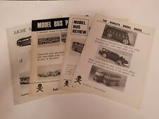 More details for 4 very rare  black and white model bus magazines, the history of model buses.