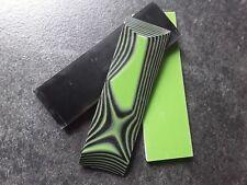 Neu! G10 Griffschalen, GFK, toxic green/black, Griffmaterial, Micarta,