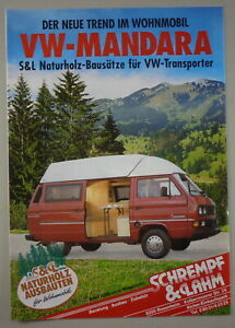 Prospectus / Brochure VW Bus T3 Schrempf Et Lahm Mandara Naturel Support 1990er