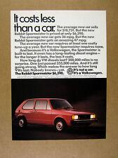 1983 VW Volkswagen Rabbit Sparmeister diesel red car photo vintage print Ad
