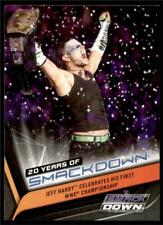 2019 WWE Smackdown Live 20 Years SD-25 Jeff Hardy Celebrates His First WWE Champ