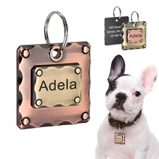 Square Dog Tags for Dogs Engraved Personalized Identification Nameplate Custom