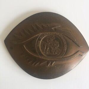 Médaille en Bronze Prix Chibret d'Ophtalmologie 1987 Collection Médecine
