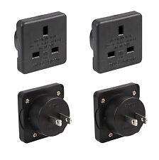 2x UK to USA US America Canada Tourist Travel Plug Power Mains Adaptor - Black