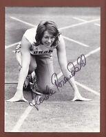 Heide Rosendahl . Medaillen 72 in der Leichtathletik . Signiertes Vintage Foto