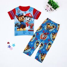 Paw Patrol Pyjamas 2017 Summer Kids T-shirts + Pants Suits Outfits 3-4 years old