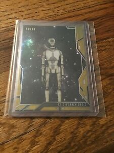 2018 Topps Finest Star Wars Droids #19 SE-2 Worker Droid Gold Refractor 50/50