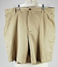 Izod XFG Cargo Golf Shorts Sand Color Mens  Size 40 Flat Front
