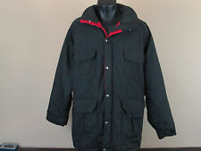 Vintage Men's WOOLRICH Insulated Jacket Parka Charcoal Red Made in USA - L
