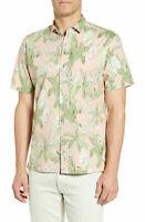Tori Richard Mens Shirt Light Pink Size Medium M Floral Button Down $98 002