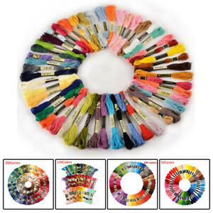200* Cotton DMC Cross Floss Stitch Thread Embroidery Sewing Skeins Multi Colors