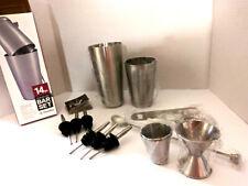 FINEDINE  Bar Set 14 Piece Stainless Steel Bar Tools Kit NEW
