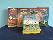 5-Lot-VHS-CHARLIE-BROWN-HOLIDAYS-Easter-Christmas-Pumpkin-2-All-Clamshell-Close