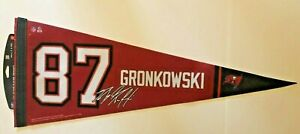 ROB GRONKOWSKI TAMPA BAY BUCCANEERS COLLECTORS PLAYER NFL FOOTBALL PENNANT NEWT