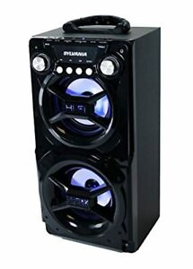 LEDVANCE Sylvania Portable Bluetooth Speaker, Black, 7 x 8.2 x 15.5 inches (SP32