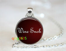silver Chain Pendant Necklace wholesale Wine Lovers glass dome Tibet