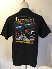 VINTAGE HARLEY DAVIDSON 1990's EAGLE T-SHIRT MILWAUKEE WISCONSIN POCKET MEN XL