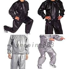 Men Women Sweat Sauna Suit Fitness Loss Weight Exercise Training Tracksuit PVC