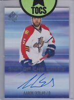 Aaron Ekblad 2014-15 SP Authentic Sign Of The TImes On Card Florida Panthers