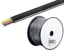 0,09/m 100m Telefonkabel Telefon Leitung Flachkabel 4Adrig Telefon Kabel schwarz