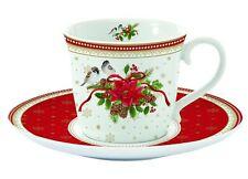 EasyLife Spirit of Christmas Porcelain Mug And Saucer Set Gift Box