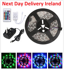 10M 3528 RGB SMD Flexible Strip 300 LED Light + 24key Remote +UK EU Power Supply