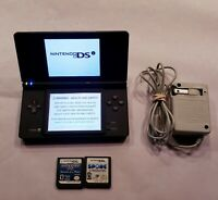 Nintendo DSi - Black Handheld System Bundle - 2 Games - Tested!  Works Great!