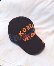 Baseball cap BLACK/GOLD/SILVER Color KOREA VETERAN Adult Size Adjustable strap