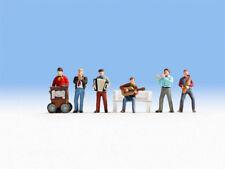 NOCH 36563 Straßenmusiker Drehorgel 6 Figuren ohne Bank N Neu