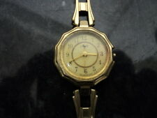 Vintage AUX Soviet Russian cccp ladies wrist watch gold plated Not Working