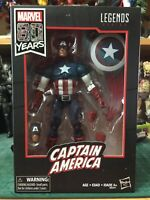 "Hasbro Marvel Legends Avengers 6"" 80th Year Captain America Figure New"