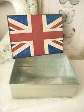 Vintage style union jack metal storage tin - New