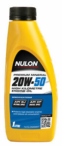 Nulon Premium Mineral Oil High Kilometre 20W-50 1L PM20W50-1 fits Wolseley 13...