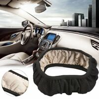 Car Auto Universal Elastic Handmade Skidproof Steering Wheel Cover Blue/Black Xw