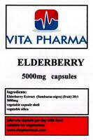 HIGH STRENGTH ELDERBERRY 5000mg 60 capsules IMMUNE SUPPORT HEART HEALTH