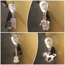 rodeo cowboys cowgirl 4pairs horse riding country western boots guitar earrings