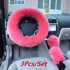 Winter Essential Universal Furry Fluffy Thick Faux Fur Car Steering Wheel Cover