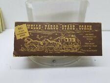 Vintage Austin Craft Wells Fargo StageCoach Wooden Model Kit OW2